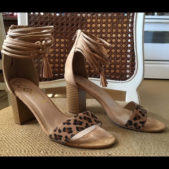 Ccocci Shoes | Leopard Suede Heeled